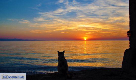Zonsondergang in Molyvos Lesbos